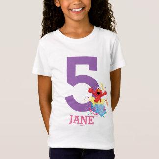 Der 5. Geburtstag des Mädchens des Sesame Street-  T-Shirt