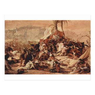 Der 7. Kreuzzug gegen Jerusalem durch Francesco Postkarte