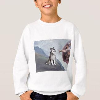 Der alaskische Malamute des Gottes Sweatshirt