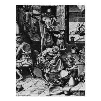 Der Alchemist durch Pieter Bruegel das Älteste Postkarte