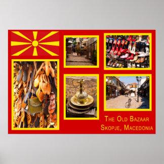Der alte Basar in Skopje Mazedonien Poster