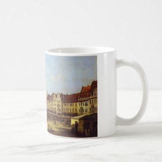 Der alte Marktplatz in Dresden Bernardo Bellotto Kaffeetasse