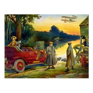 Der Anfang des Automobils 1910 Postkarte
