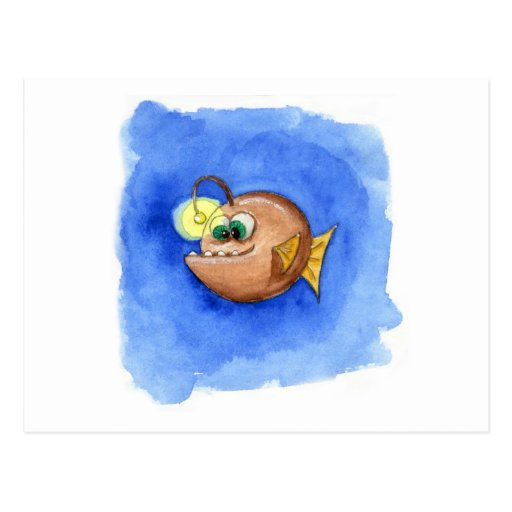 Der Angler Postkarte