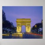 Der Arc de Triomphe, Paris, Frankreich, Poster