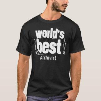 Der Archivar-Namen-Schmutz-Buchstaben der Welt T-Shirt
