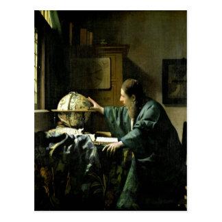 Der Astronom, 1668 Postkarte