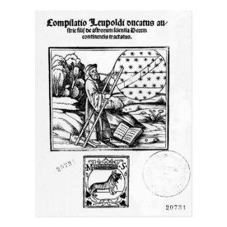 Der Astronom Postkarte