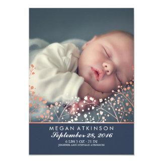 Der Atem-Baby-Foto-Geburt des 12,7 X 17,8 Cm Einladungskarte