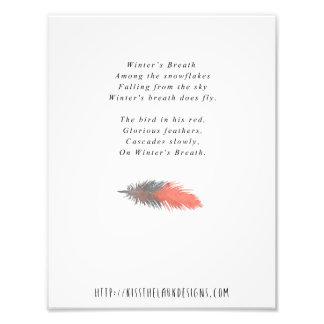 Der Atem des Winters - Poesie 8,5 x 11 bedruckbar Fotodruck