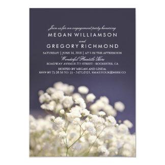 Der Atem-elegantes Verlobungs-Party des 12,7 X 17,8 Cm Einladungskarte