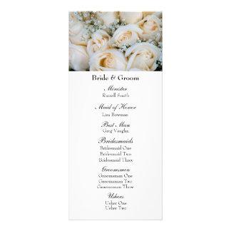 Der Atem-Hochzeits-Programm des BrautRosen-Babys Werbekarte