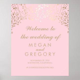 Der Atem-Hochzeits-Willkommensschild-Plakat des Poster