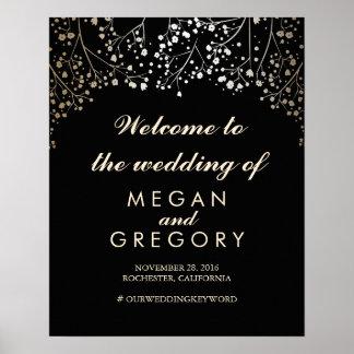 Der Atem-Hochzeits-Willkommensschild-Schwarzes des Poster