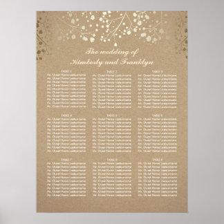 Der Atem-Kraftpapier-Hochzeits-Sitzplatz-Diagramm Poster