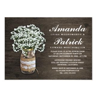 Der Atem-Leinwand-Verlobungs-Party Einladungen des
