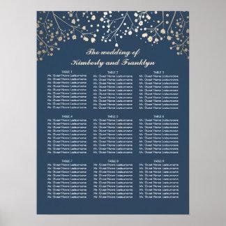 Der Atem-Marine-Hochzeits-Sitzplatz-Diagramm des Poster