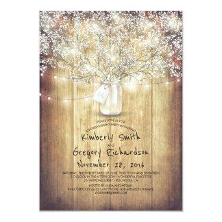 Der Atem-Maurer-Glas-Scheunen-Verlobungs-Party des 12,7 X 17,8 Cm Einladungskarte