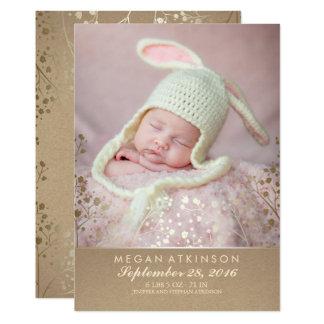 Der Atem-neugeborene Baby-Foto-Geburt des Babys 12,7 X 17,8 Cm Einladungskarte