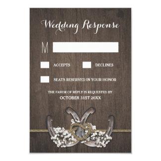 Der Atem-rustikale Hochzeit UAWG Karten des 8,9 X 12,7 Cm Einladungskarte