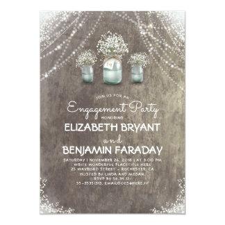 Der Atem-Verlobungs-Party des rustikalen 12,7 X 17,8 Cm Einladungskarte