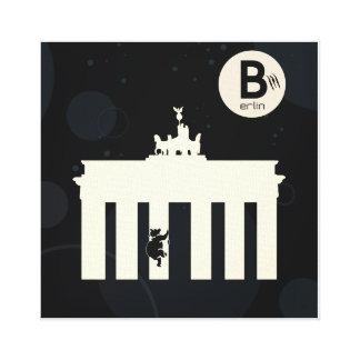 Der Bär auf Berlin - Leinwand 40x40cm Leinwanddruck