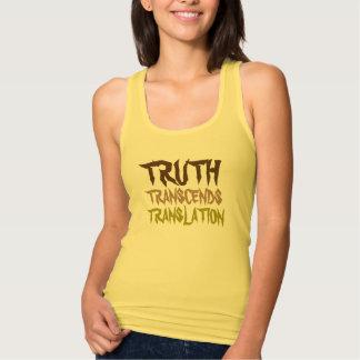 Der Behälter der Wahrheits-gelben Frauen Tanktop