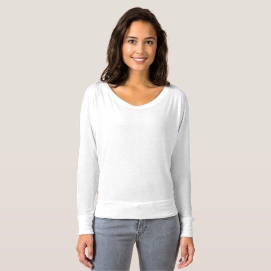 Frauen Bella+Canvas Fließendes Schulterfreies Shirt