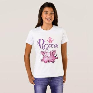 Der Bella PIGCESS CARTOON Mädchen+Leinwand-Crew-T T-Shirt
