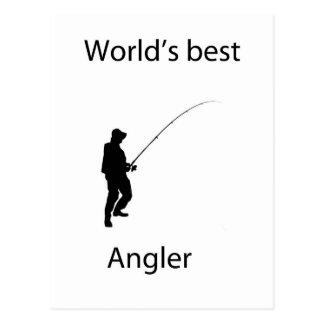 Der beste Angler der Welt Postkarte