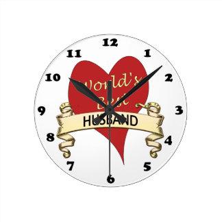 Der beste Ehemann der Welt Wanduhren