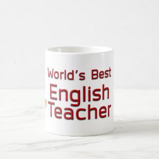 Der beste Englischlehrer der Welt mit Büchern Kaffeetasse