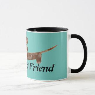 Der beste Freund-gepunktete Dackel-Wecker-Tasse Tasse