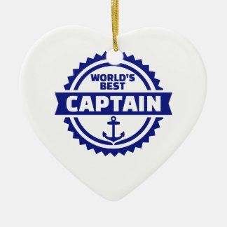 Der beste Kapitän der Welt Keramik Ornament