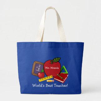 Der beste Lehrer 2 der Welt Jumbo Stoffbeutel
