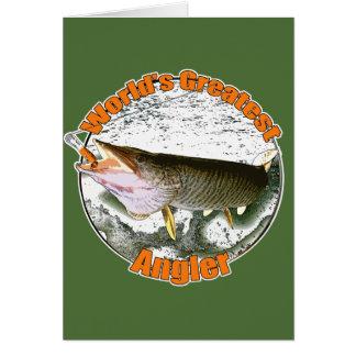 Der bestste Angler der Welt Grußkarte