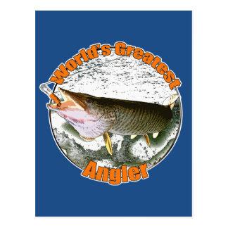 Der bestste Angler der Welt Postkarten