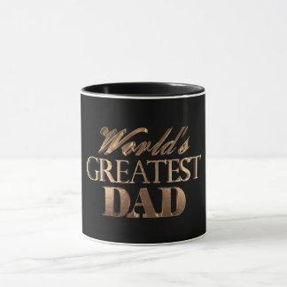 Der bestste Vati-elegante schwarze Goldtypographie Tasse