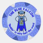 Der blaue Falkegewohnheitsaufkleber