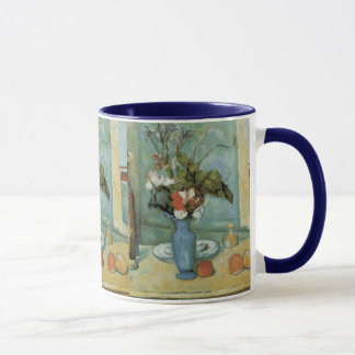 Der blaue Vase (Blumen und Frucht) durch Paul Tasse