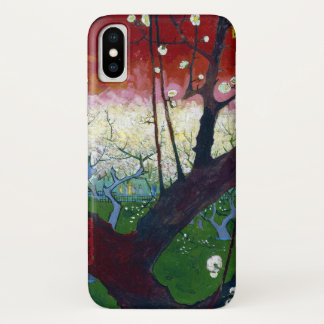 Der blühende Pflaumen-Baum durch Van Gogh iPhone X Hülle