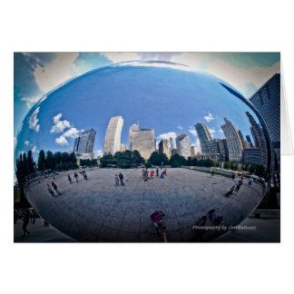 """""""Der Bohnen-"""" - Jahrtausend-Park Chicago Karte"""