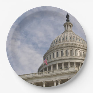 Der Capitol- HillGebäude in Washington DC Pappteller