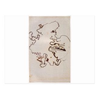Der Cellist durch Victor Hugo Postkarte