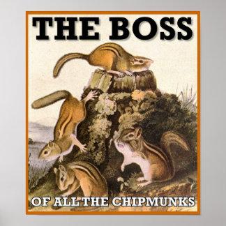 Der Chef des ganzes Chipmunks-Plakat-Zeichens Poster