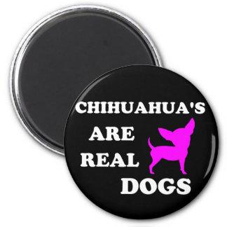 Der Chihuahua sind wirkliche Hunde Runder Magnet 5,7 Cm