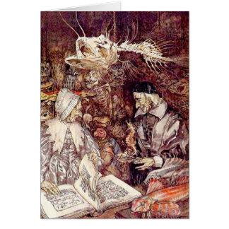 Der Compleat Angler, Illustration Arthurs Rackham Karte