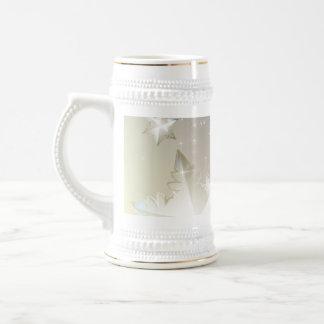 Der dekorative abstrakte Winter-Tassenentwurf Bierglas