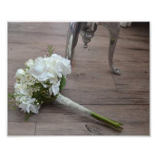Der Der Blumenstrauß-Kunst-Druck der Braut Fotodruck