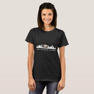 Der dunkle T - Shirt LAS- VEGASstreifen-GEBURTSTAG